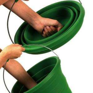 Folding camping bucket