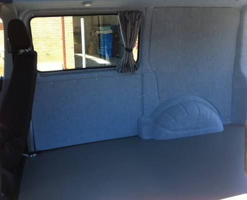 Insulated and carpeted interior