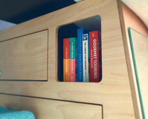 Inbuilt Book Shelf