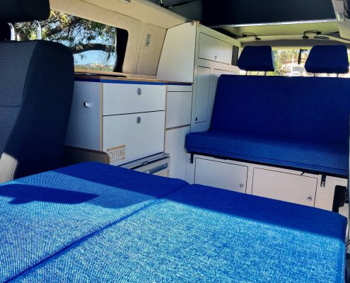 VW T6 bench seat campervan