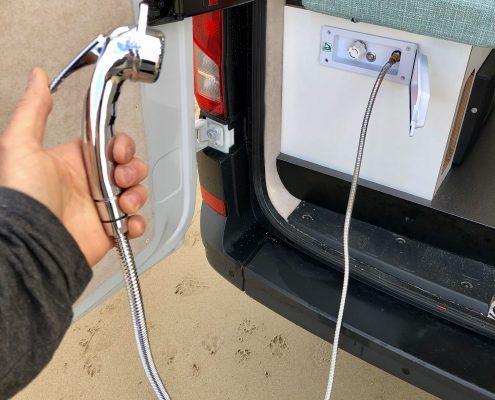 VW Crafter Motorhome outdoor shower