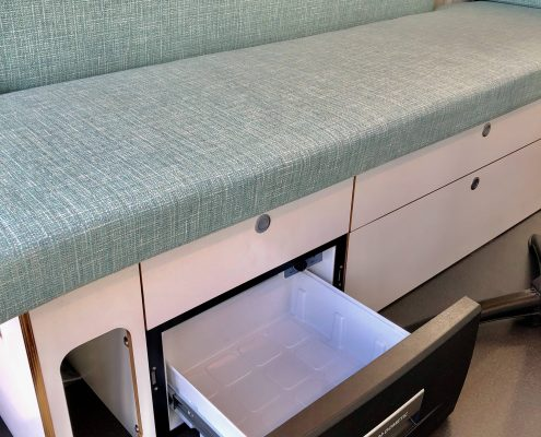VW Crafter Motorhome second drawer fridge