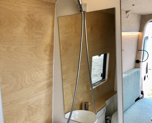 VW Crafter Motorhome bathroom