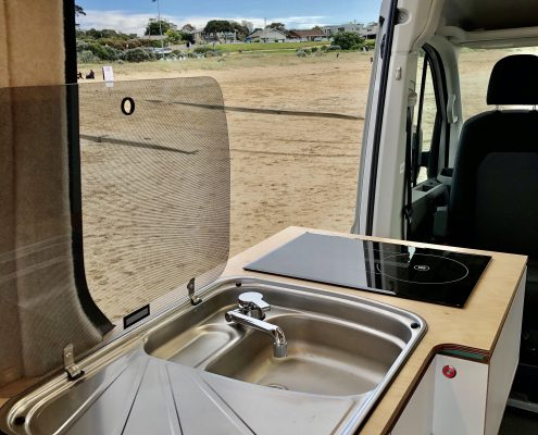 VW Crafter Motorhome sink and cooker